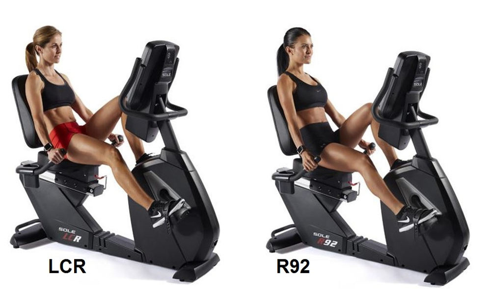 Sole LCR and R92 recumbent exercise bikes review comparison