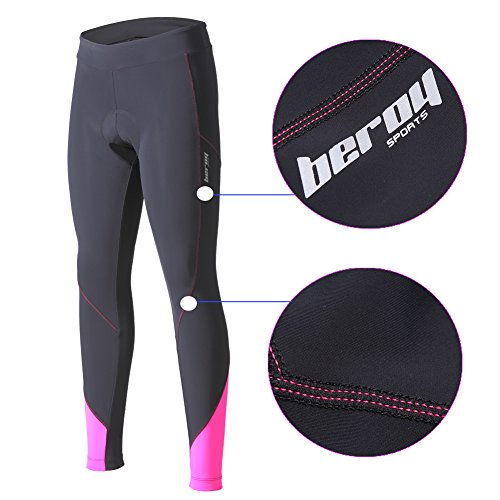 beroy (The Improved Womens 3D Padded Long Bike Pants,Cycling Pants,Bike Shorts Padding with Drawstring Cord
