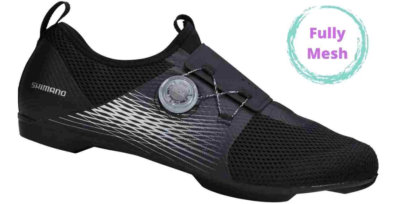 Fully mesh women cycling shoes
