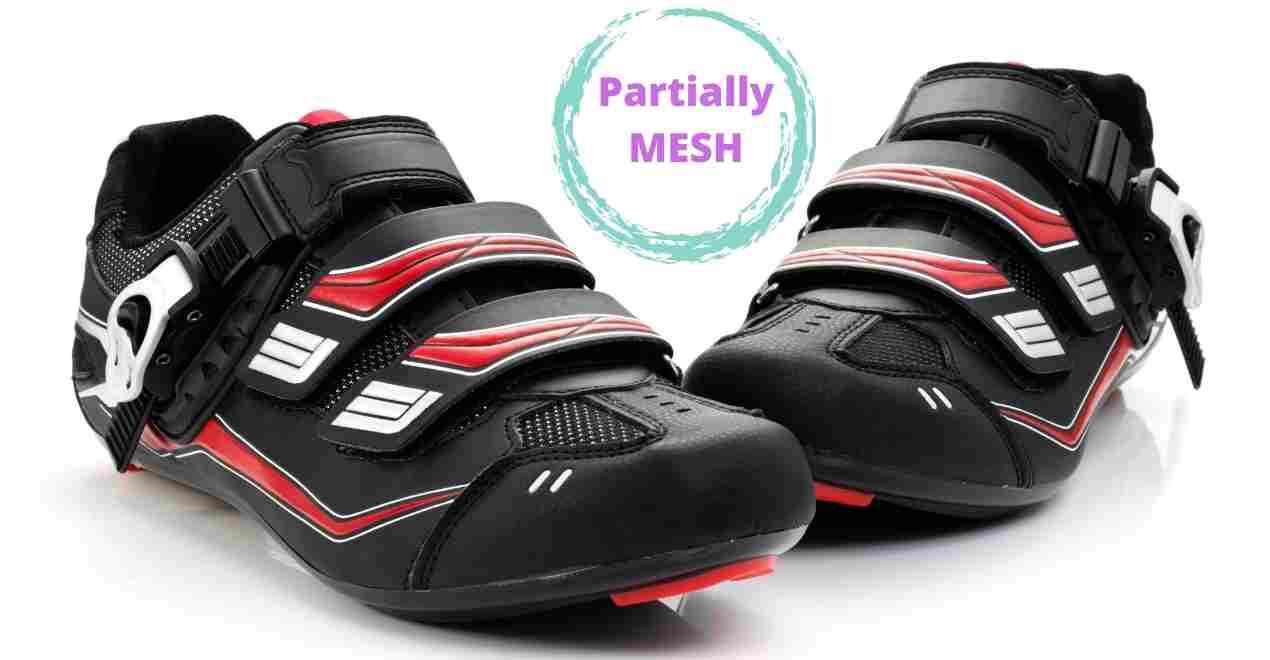 Partially mesh women cycling shoes