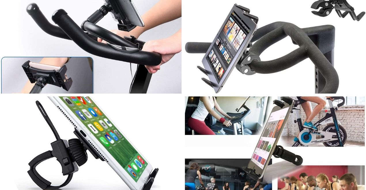 best exercise bike ipad tablet holders