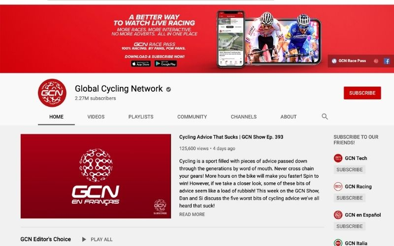 Global indoor Cycling Network