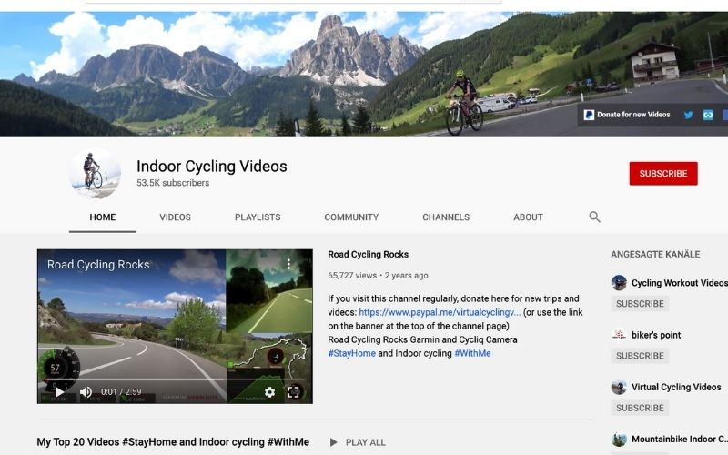 Indoor Cycling Videos
