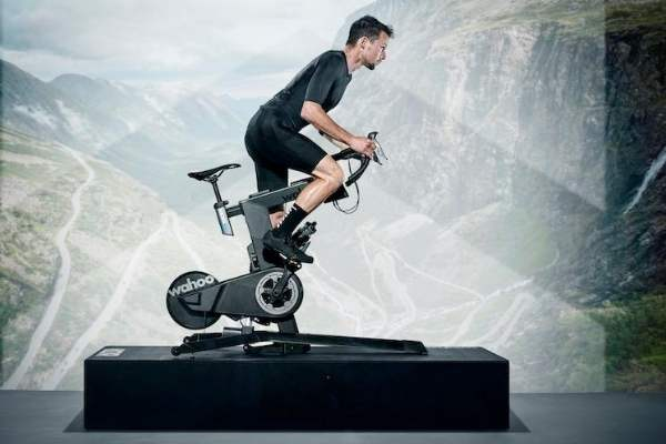 Wahoo KICKR bike flywheel
