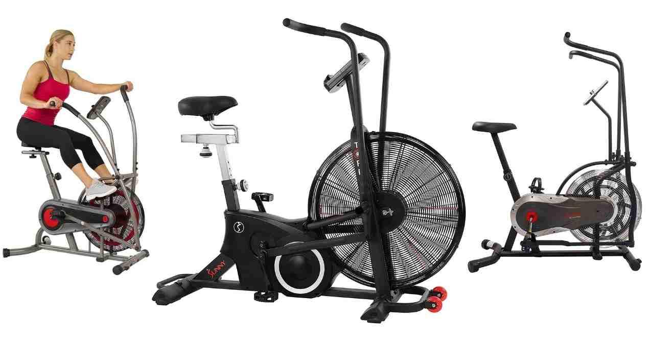 sunny health fitness air bikes comparison